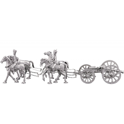 Cannon with horses