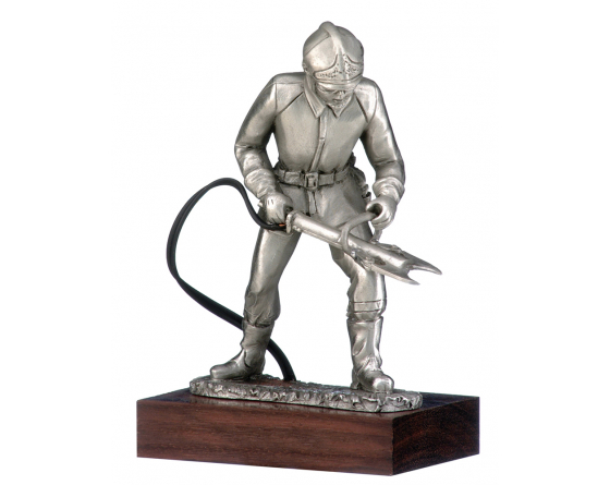 hydraulic rescue pewter firefighter