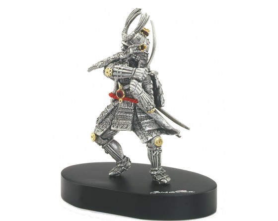 pewter samurai officier S7