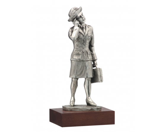 woman pewter firefighter