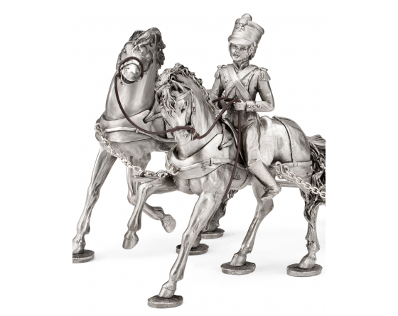 Ambulance horses pewter